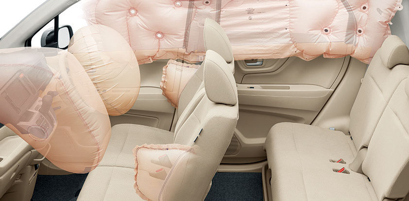 前席用i-サイドエアバッグシステム+サイドカーテンエアバッグシステム(前席/後席対応)