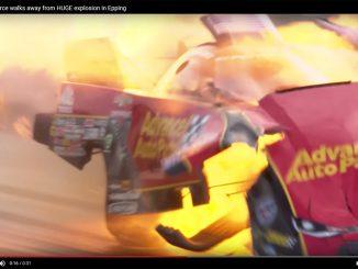 【動画】時速500キロで走る女性レーサーのマシンが爆発炎上